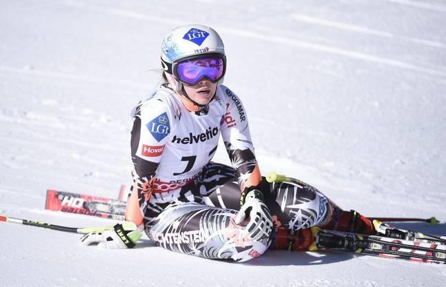 Die Liechtensteinerin Tina Weirather war sichtlich enttäuscht von ihrer Leistung.