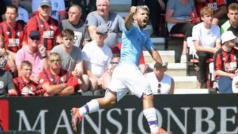 Sergio Agüero trifft beim Sieg von Manchester City gegen Bournemouth doppelt