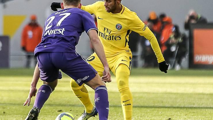 Mit seinem 19. Saisontor in der Ligue 1 schoss Neymar Paris Saint-Germain in Toulouse zum Sieg