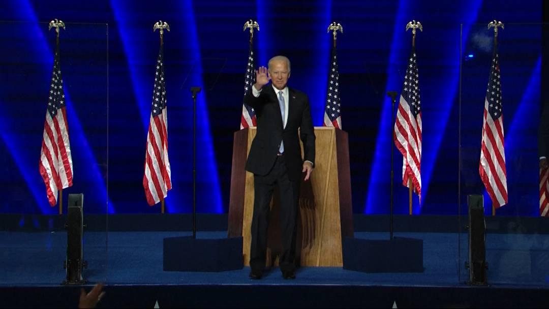 """Neue US-Präsident Joe Biden: """"Ich werde das Land einen!"""""""