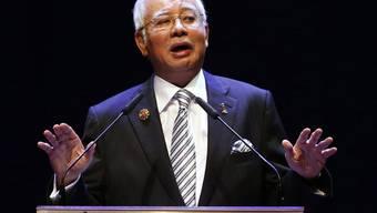 In der Spendenaffäre um den malaysischen Regierungschef Najib Razak wird keine Anklage gegen ihn erhoben. (Archiv)