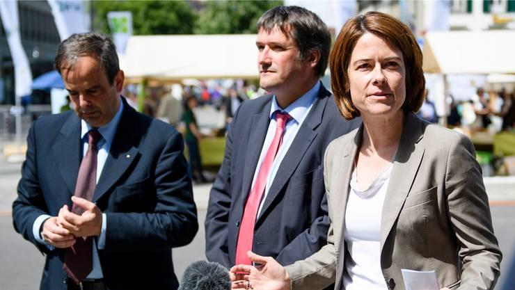 Wenn die europafreundlichen Parteipräsidenten Gerhard Pfister (l.), Christian Levrat und Petra Gössi nicht zusammenarbeiten, ist ein Rahmenabkommen chancenlos.
