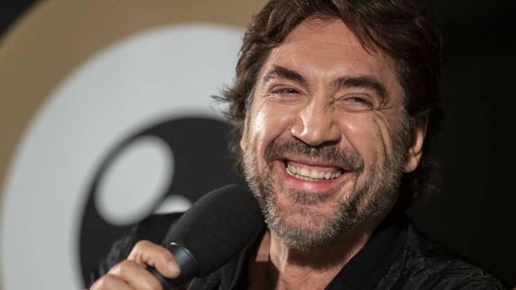 Obwohl der spanische Schauspieler und Oscarpreisträger Javier Bardem hauptsächlich über den dramatischen Zustand der Erde sprach, sorgte er auch für einige heitere Momente. (Keystone/Ennio Laenza)