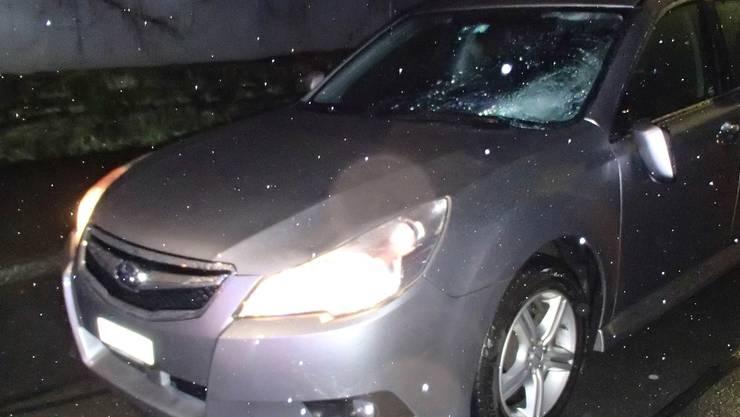 Dieses Auto erfasste die Frau.