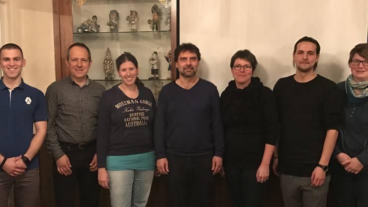 Der aktuelle Vorstand der Jugendmusik Möhlin, in der Mitte der neue Präsident Matthias Fäs