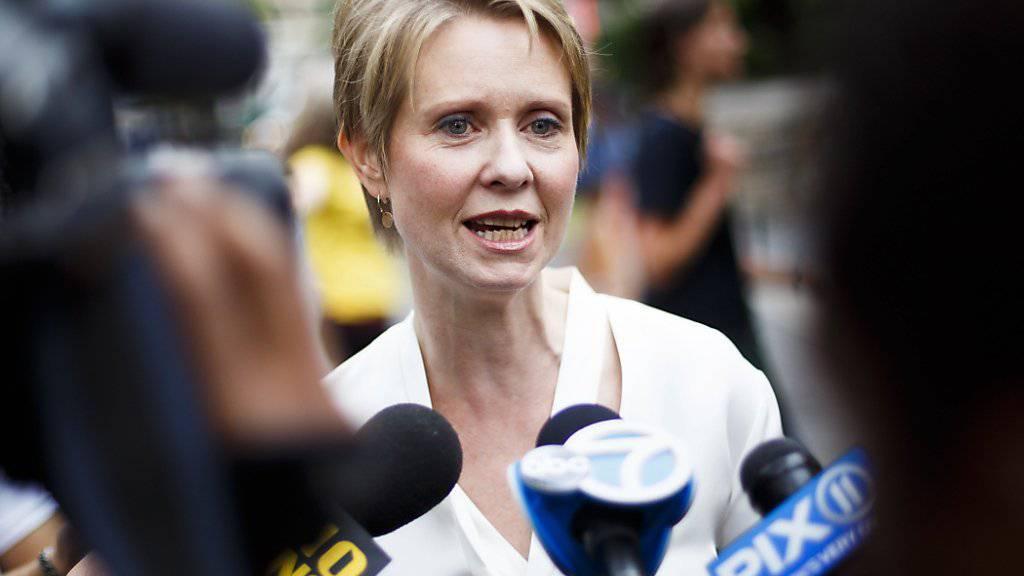 """Muss ihre Ambitionen für das Bürgermeister-Amt von New York vorläufig begraben: """"Sex and the City""""-Serienstar Cynthia Nixon."""