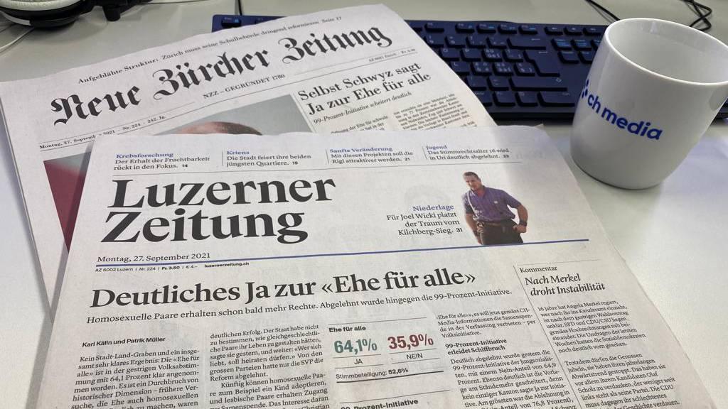 «Endlich»: So reagieren Schweizer Medien auf das Ja zur «Ehe für alle»