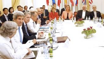 Verhandlungen der Aussenminister im Palais Coburg in Wien