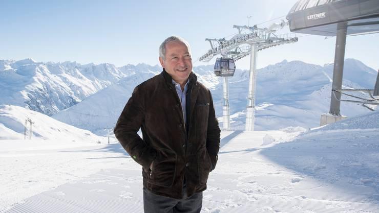 Bald Urner Ehrenbürger? – Der ägyptische Investor Samih Sawiris bei der Eröffnung der Skiarena Andermatt im Dezember 2018.