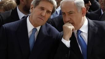 US-Aussenminister John Kerry (links) und der israelische Ministerpräsident Benjamin Netanjahu