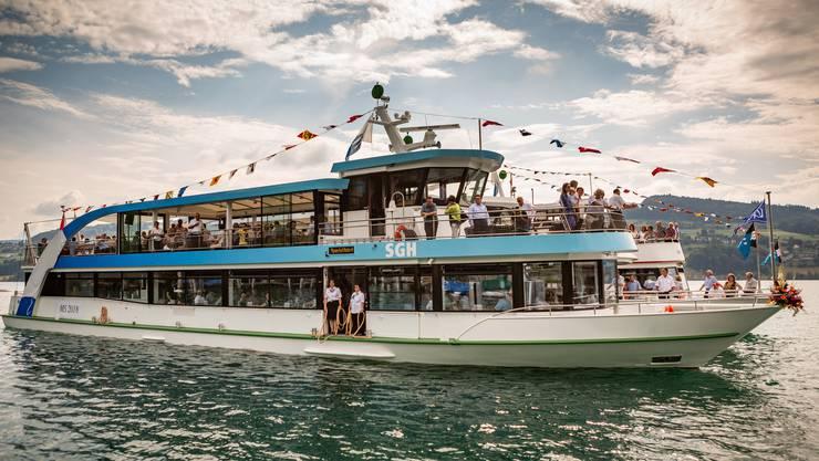 Das neue Hallwilerseeschiff MS Delfin erwischte einen traumhaften ersten Sommer.
