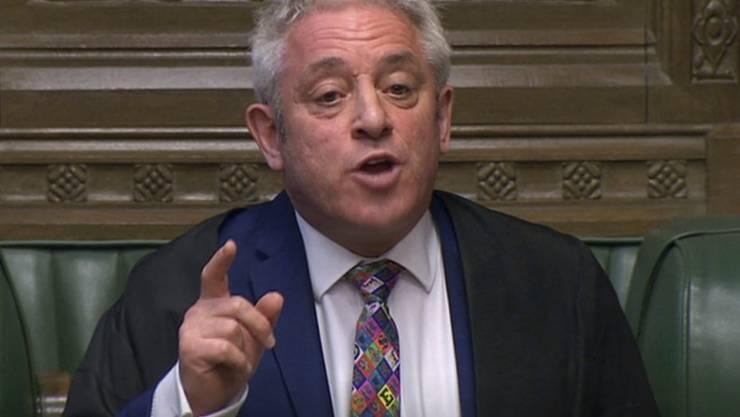 Der Sprecher des Unterhauses, John Bercow, kündigte an, spätestens zum 31. Oktober von seinem Amt zurückzutreten.