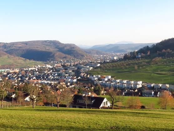 Die Landschaft, sogar mit Blick auf Liestal