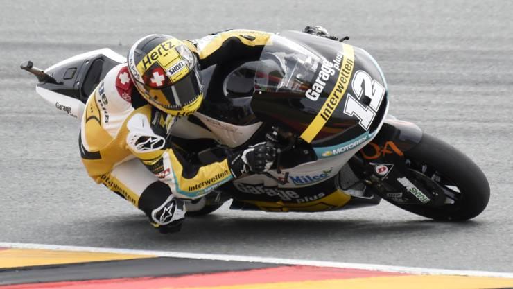 Tom Lüthi erreicht auf dem Sachsenring Rang 4 im Qualifying