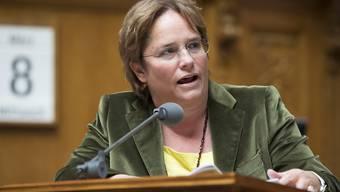 Im Nationalrat gingen die Wogen in der Debatte über einen neuen Verfassungsartikel zu Energie-Lenkungsabgaben hoch. Im Bild Nationalrätin Magdalena Martullo (SVP/GR).