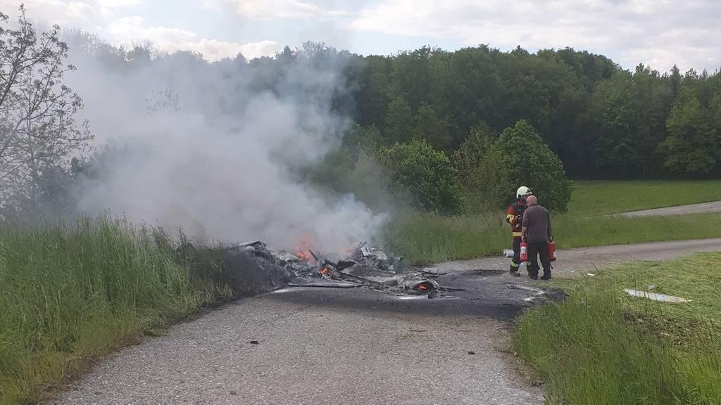 Augenzeuge berichtet vom Flugzeugabsturz im Birrfeld