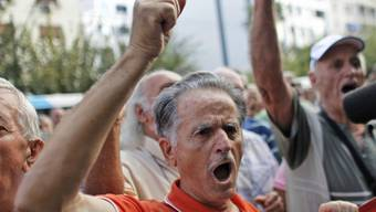 Protestierende Rentner in Athen (Symbolbild)