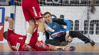 Handball-Natigoalie Nikola Portner gegen Norwegen: 42 Prozent der Schüsse des WM-Zweiten von 2019 pariert - das ist ein absoluter Spitzenwert.