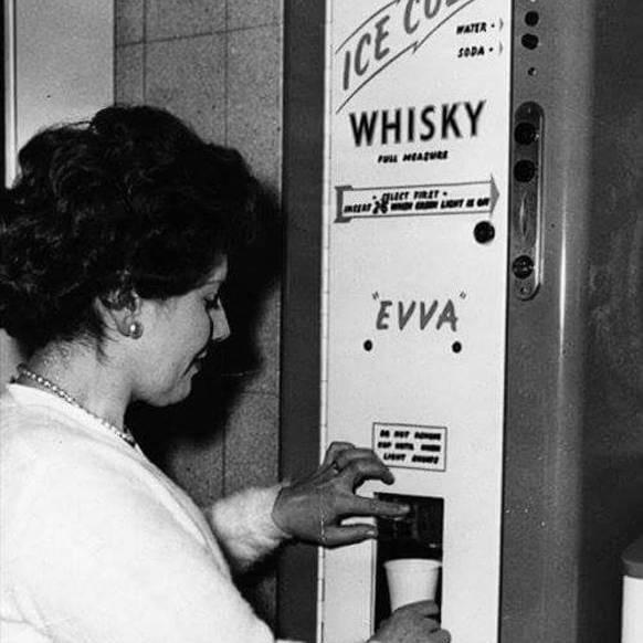 Whisky-Automat: Den härteren Stoff gab es früher auch noch an Automaten zu kaufen.