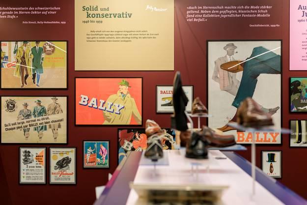 """Schönenwerd: In der Ballyana wird demnächst die neue Sonderausstellung """"Bally Monsieur"""" eröffnet. Ein Rückblick auf die Geschichte der Herrenschuhe, die unter anderem in den Fabriken im Aargau West genäht wurden. Fotografiert am 24. Oktober 2019."""