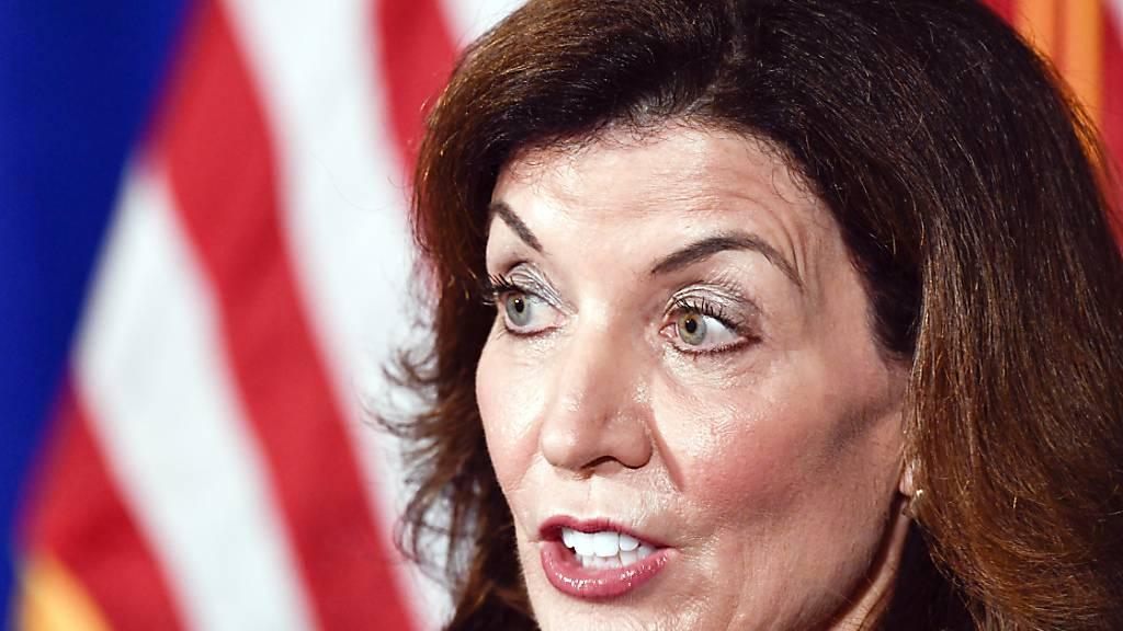 Die stellvertretende Gouverneurin von New York, Kathy Hochul. Foto: Hans Pennink/FR58980 AP/dpa