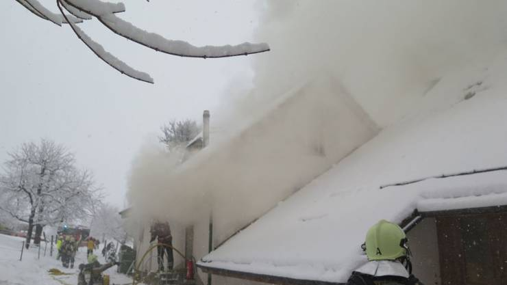 Beim Brand eines abgelegenen Bauernhauses in Eptingen BL ist eine Person verletzt worden.