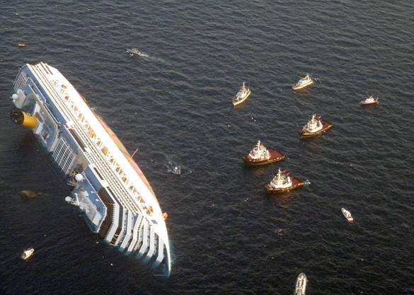 Das Schiff ist fast 300 Meter lang.