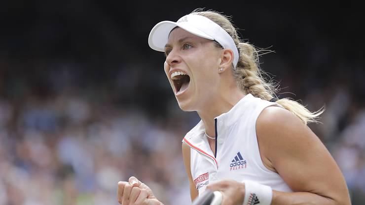 Wieder ähnlich stark wie vor zwei Jahren: Angelique Kerber steht in Wimbledon im Halbfinal