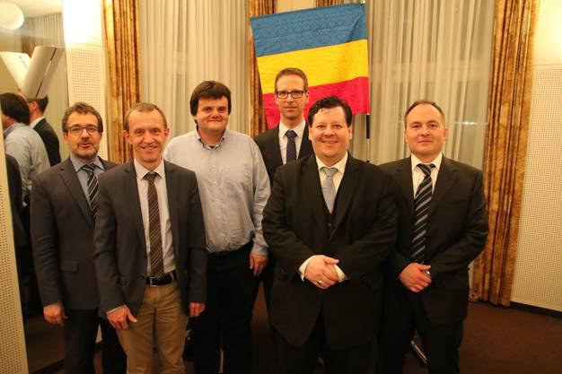 vlnr. Obmann Markus Liechti, Walter Krummenacher, Markus Demarmels, Peter Droste, Eduard Hawlitschek,Philippe Müller
