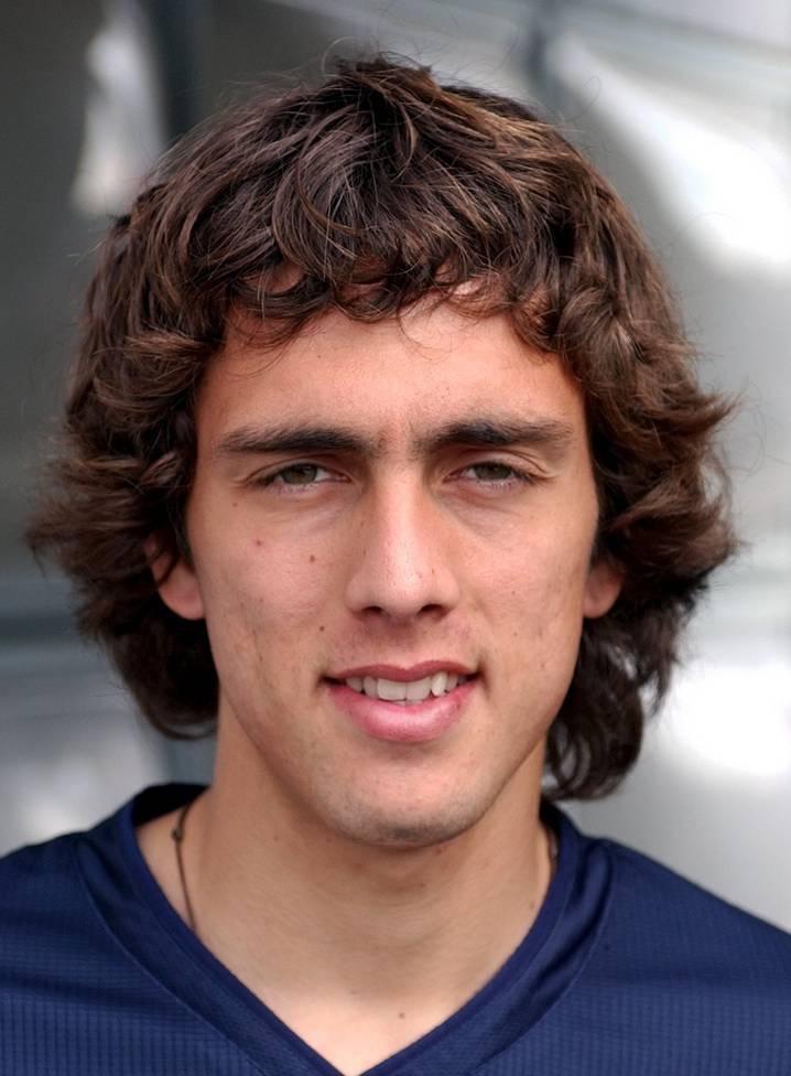 Matías Delgados Porträt, als er 2003 erstmals für den FC Basel spielte.