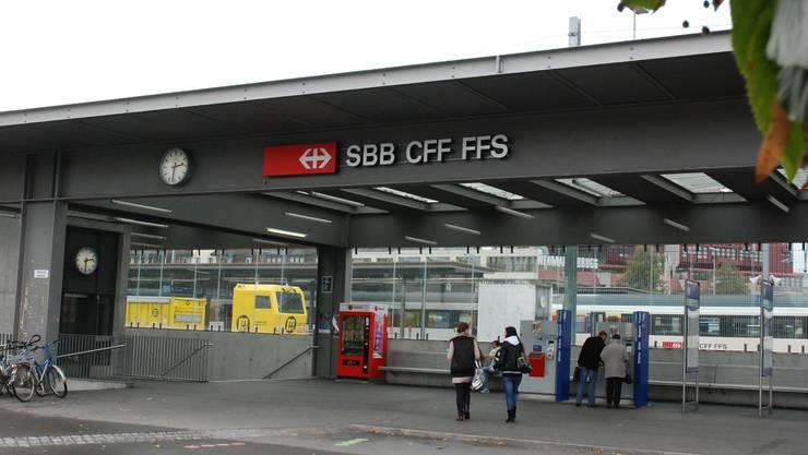 Bahnhof Brugg: Zwischen Brugg und Turgi war die Zuglinie mehrere Stunden lang unterbrochen. (Symbolbild)