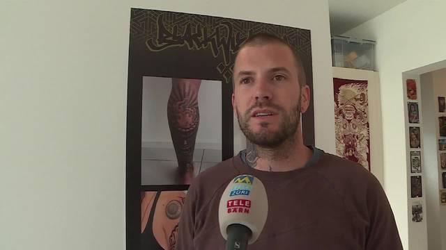 Tätowierer Sandro Spahn wurde von der Sondereinheit Falk überrascht: «Sie haben jemanden oder etwas gesucht, aber nichts gefunden»
