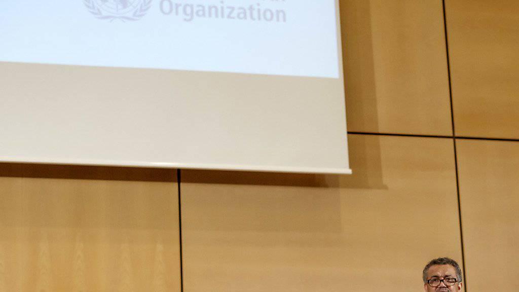 """WHO-Direktor Tedros Adhanom Ghebreyesus lobte die Resolution zur Transparenz im Arzneimittelmarkt als """"historischen Schritt"""". (Archivbild)"""