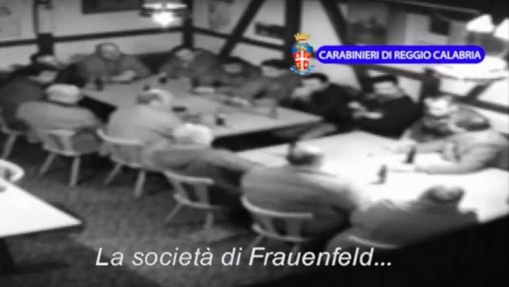 Diese Szenen sorgten 2014 für Aufsehen: Ein Treffen der mutmasslichen Frauenferlder Mafia Zelle wird heimlich gefilmt.