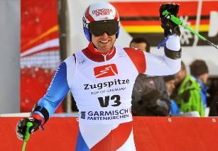 Und am 12. März 2010 stand er beim Weltcup-Riesenslalom in Garmisch als Vorfahrer am Start.