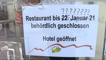 So reagieren die Gastronomen auf die mögliche Lockdown-Verlängerung.