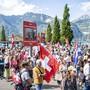 Am Samstag und Sonntag gibt es in Konstanz und Kreuzlingen am Bodensee Demonstrationen unter anderem gegen Corona-Massnahmen, etliche Bürgerinitiativen haben zu Gegenkundgebungen aufgerufen. (Symbolbild von Flüelen UR vom 5. September 2020)