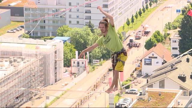 Balance-Akt: Weltrekordversuch bei Tivoli in Spreitenbach