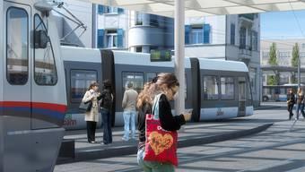 Die geplanten Linienführung der Limmattalbahn entspricht weit gehend derjenigen des ursprünglichen Bauprojektes. (Archivbild)