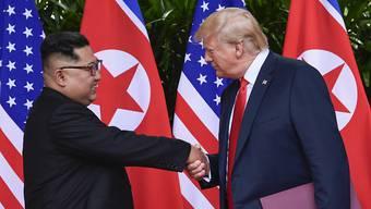 US-Präsident Donald Trump will bei den Abrüstungsgesprächen mit Nordkoreas Machthaber Kim Jong Un in Hanoi gewisse Geduld zeigen. (Archivbild)