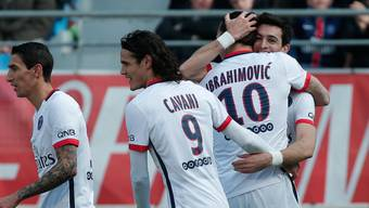 Pariser Jubel dank und mit Superstar Zlatan Ibrahimovic