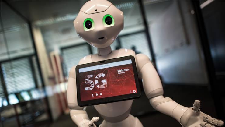 Roboter funken künftig, genau wie selbst fahrende Autos, im 5G-Netz.