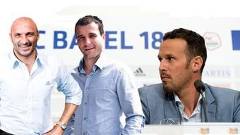 Massimo Ceccaroni, Alex Frei und Marco Streller bilden die neue sportliche Leitung beim FC Basel.
