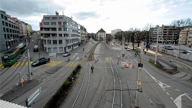 Unort in Basel: Die Wendeschlaufe an der Heuwaage.