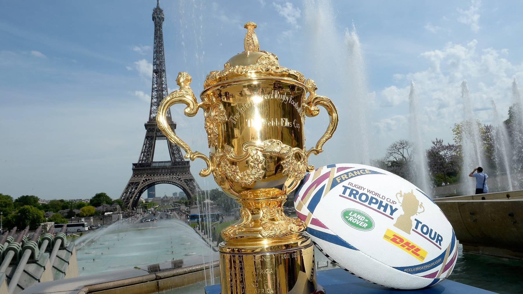 Bei der Rugby-WM wird um die Webb Ellis Trophäe gespielt.