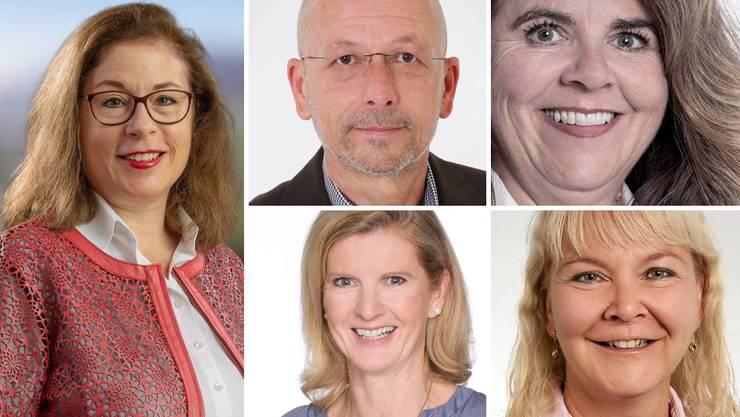 Vier Frauen und ein Mann bewerben sich für das Laienrichteramt.