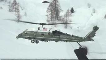 US-Präsident Donald Trump ist am WEF in Davos gelandet.