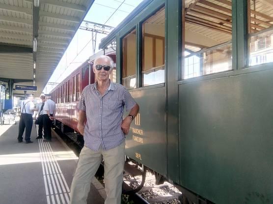 In historischem Rollmaterial führte die Reise von Hinwil nach Bauma ZH. Bild: zvg