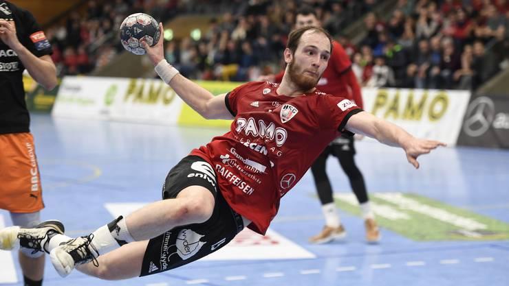 Können Co-Captain Tim Aufdenblatten und seine Teamkollegen gegen den BSV Bern auf die Niederlage vom Pfadi-Spiel reagieren?