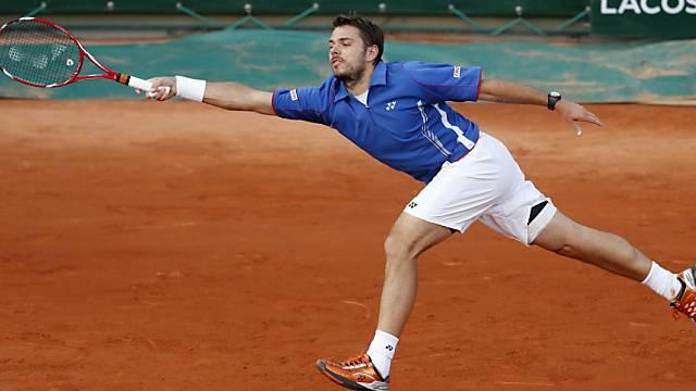 Stanislas Wawrinka erreicht in Paris die zweite Runde.